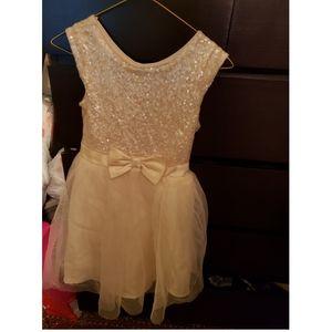Girls yellow sequin dress